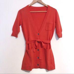 Trina Turk - Short Sleeve Belted Cardigan